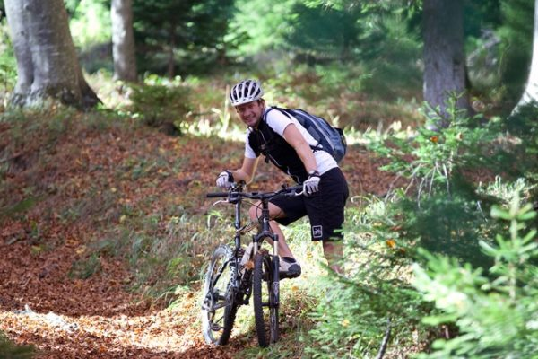 Elmar Fabbri unterweg mit dem Bike.