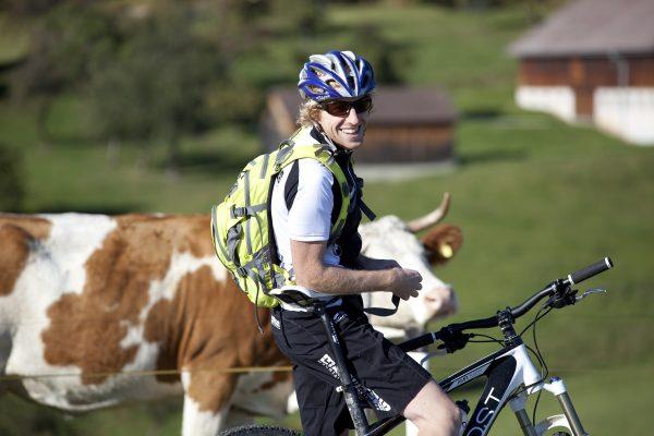 Ingemar Dubski, einer unserer Mountainbikeguides auf Tour.