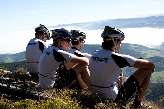 Entspannung auf dem Berg und die Aussicht genießen.